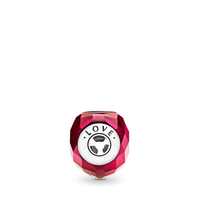Charm ESSENCE COLLECTION Amore, Argento Sterling 925, Silicone, Rosa, Cristallo - PANDORA - #796600NFR