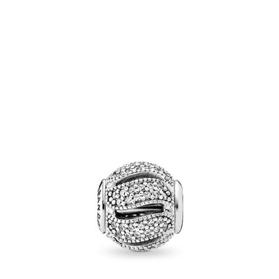 Charm ESSENCE COLLECTION Lealtà, Argento Sterling 925, Silicone, Incolore, Zirconia cubica - PANDORA - #796074CZ