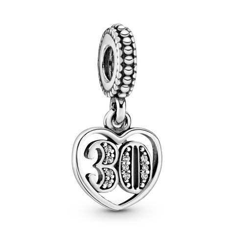 Charm pendente 30° compleanno
