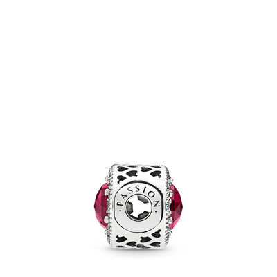 Charm ESSENCE COLLECTION Passione, Argento Sterling 925, Silicone, Rosso, Pietre miste - PANDORA - #796441SRU