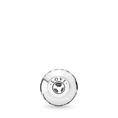 Charm ESSENCE COLLECTION Amore, Argento Sterling 925, Silicone, Incolore, Nessuna pietra - PANDORA - #796070