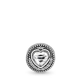 Charm ESSENCE COLLECTION Passione, Argento Sterling 925, Silicone, Incolore, Zirconia cubica - PANDORA - #796081CZ