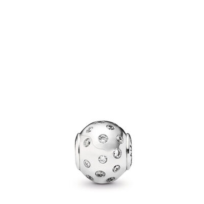 Charm ESSENCE COLLECTION Gioia, Argento Sterling 925, Silicone, Incolore, Zirconia cubica - PANDORA - #796020CZ