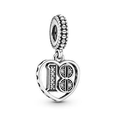 Charm pendente 18° compleanno