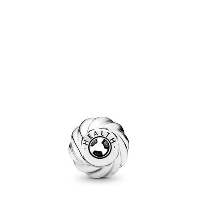 Charm ESSENCE COLLECTION Salute, Argento Sterling 925, Silicone, Incolore, Nessuna pietra - PANDORA - #796015