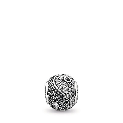 Charm ESSENCE COLLECTION Equilibrio, Argento Sterling 925, Silicone, Incolore, Pietre miste - PANDORA - #796053CZ