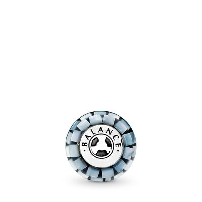 Charm ESSENCE COLLECTION Equilibrio, Argento Sterling 925, Silicone, Blu, Madreperla - PANDORA - #796080MMB