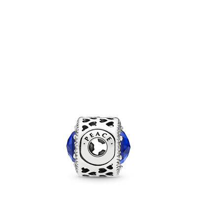 Charm ESSENCE COLLECTION Pace, Argento Sterling 925, Silicone, Blu, Pietre miste - PANDORA - #796439NCB