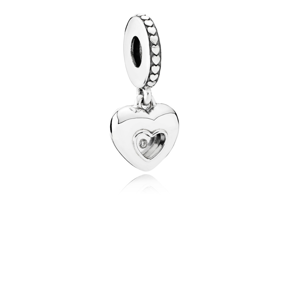 Charm Pendente Club Charm 2017, 0.01ct TW h/vs diamond
