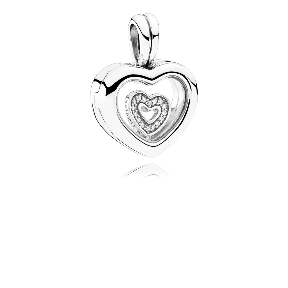 PANDORA Floating Heart Locket